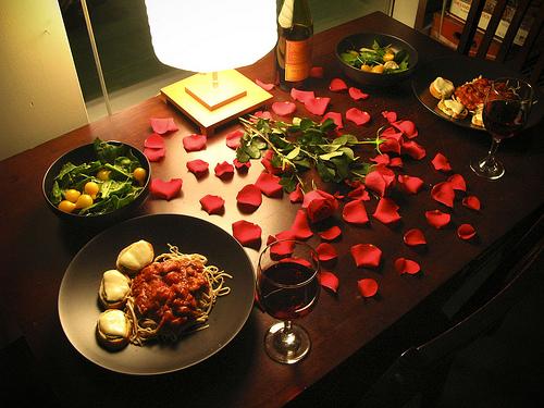 Dîner romantique en couple