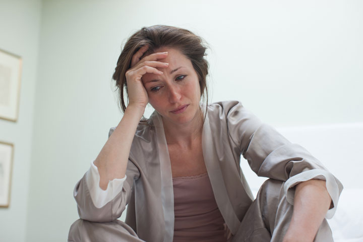 femme déprimée