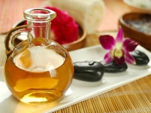l'huile végétale pour lubrifier vos mains