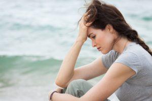 déprime amoureuse femme triste